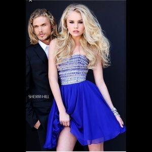 Sherri Hill Dress Short Navy Blue